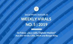 Titelbild Weekly Virals 5 | 2019
