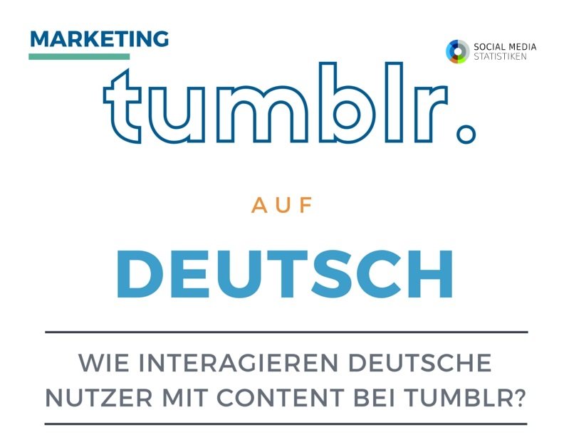 Tumblr: 83 % rebloggen | Podcast + Infografik